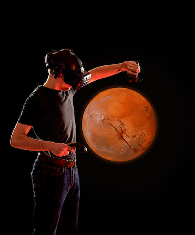 Virtual travelling through the cosmos. Foto: DLR