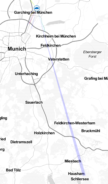 Range of the LRZ-LoRaWAN in a map